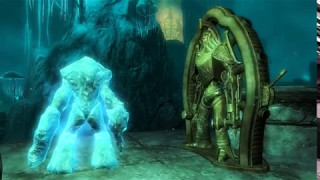 Skyrim - Ледяной атронах против двемерского центуриона. Черный Предел