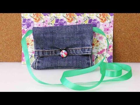 DIY Recycling Jeans | Bag Tasche Portemonnaie aus alter Jeanshose selber machen | Fashion