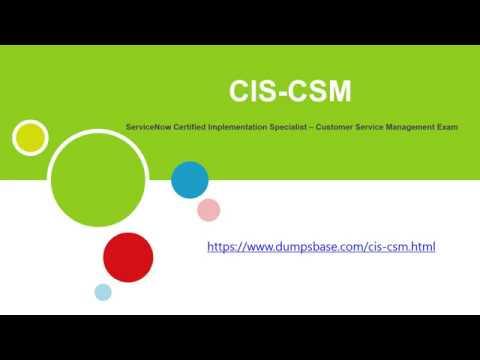 Real CIS-CSM Customer Service Management Exam Dumps Online ...