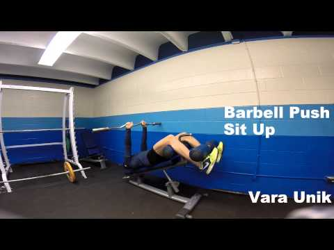 Barbell Push Sit Up