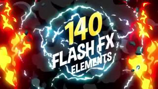 140 Flash FX Elements ПЕРЕХОДЫ ДЛЯ ВИДЕО After Effects 
