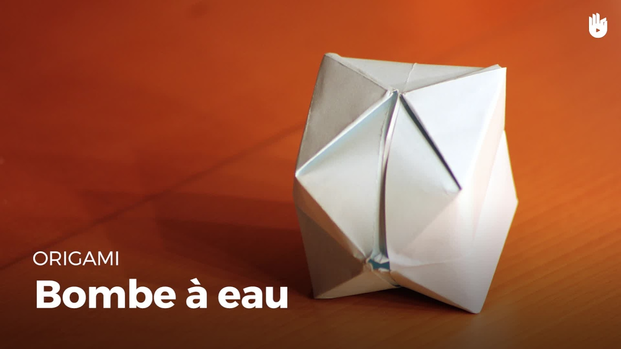 faire une bombe eau en papier apprendre faire des origamis sikana. Black Bedroom Furniture Sets. Home Design Ideas