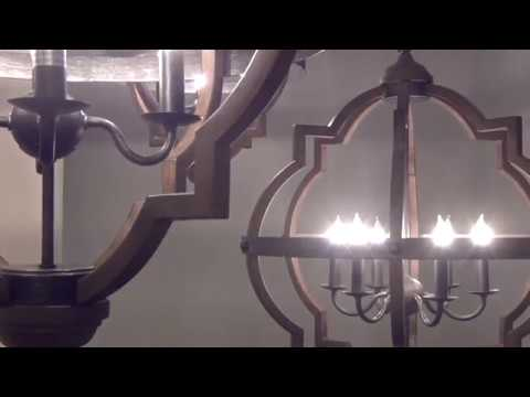 Video for Socorro Stardust 25-Inch Energy Star Six-Light Hall Foyer