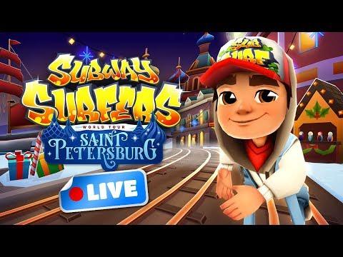 🔴 Subway Surfers World Tour 2017 - Saint Petersburg Gameplay Livestream
