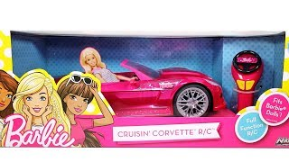 Barbie Cruisin' Corvette RC Car Unboxing Toy Review