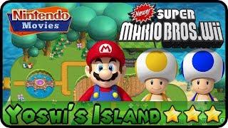 Newer Super Mario Bros. Wii   World 1   Yoshi's Island (100%, Multiplayer)