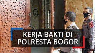 Bersiap Menuju New Normal, Jajaran Polresta Bogor Kota Lakukan Kerja Bakti