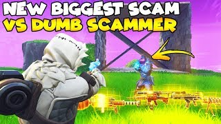 NEW Biggest Scam vs Dumbest  Scammer! 😱 (Scammer Gets Scammed) Fortnite Save The World