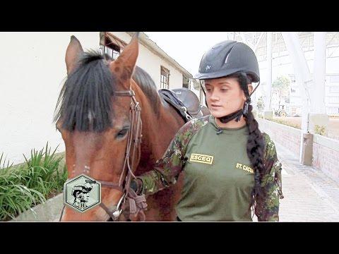 Primera mujer del Arma de Caballería del Ejército Nacional de Colombia