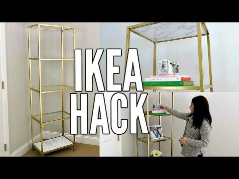 IKEA-Regal Hack - Mit Goldspray und Folie schnell gemacht