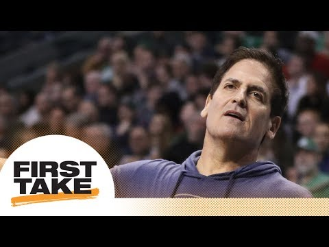First Take reacts to NBA owner Mark Cuban taking jabs at the NFL | First Take | ESPN