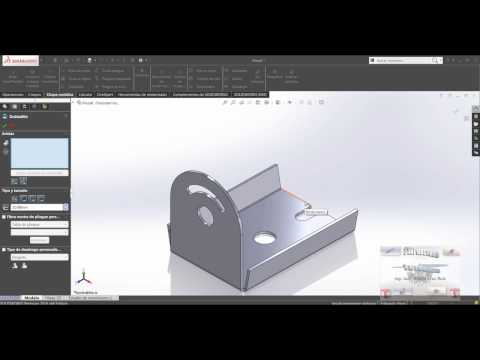 Curso y Tutorial de Solidworks  - CHAPA METALICA PIEZA 1