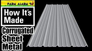 How Its Made - Sheet Metal - Barn Metal - Corrugated Panel