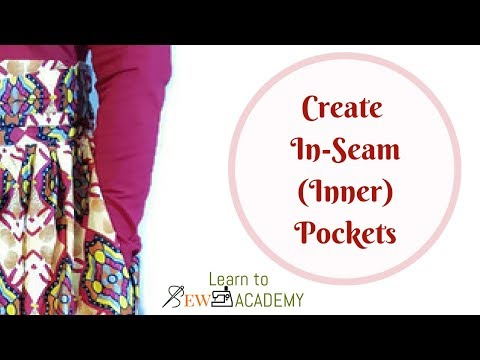 How to Make Pockets in Gathered Skirts & Dresses | In-seam (Inner) Pockets | Quick Sewing Tips #6