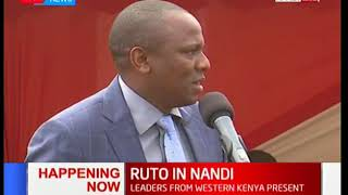 DP Ruto attends church service in Nandi County