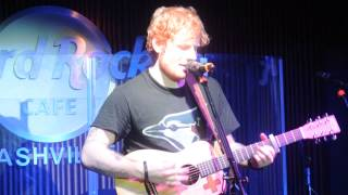 Ed Sheeran - We Are - Hard Rock Cafe Nashville