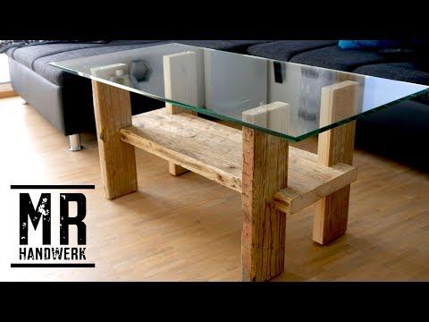 Der günstigste Tisch der Welt aus Gerüstbohlen zum selber bauen.
