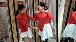 三个女人逛商城,秋子从试衣间出来的那一刻,大伙笑坏了