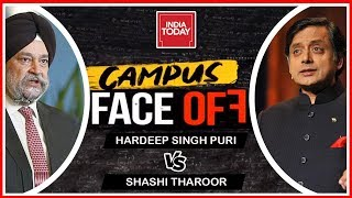 Campus face Off   Shashi Tharoor vs Hardeep Puri Over Who To Vote For In 2019 Lok Sabha Elections?