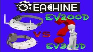 EV300d vs EV200d - visori FPV - Test e Confronto - RECUPERO DRONE dentro il pino! ITA