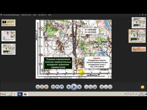 Топография . Определение прямоугольных координат на карте . Контрольно проверочные занятия. КПЗ.