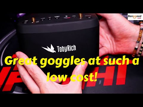 Tobyrich TR1 EV800D 5.8G 40CH Diversity FPV Goggles Full Review