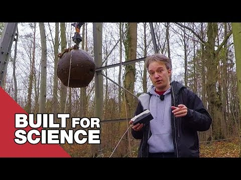 Using a 4 Tonne Steel Ball to Make Artificial Earthquakes
