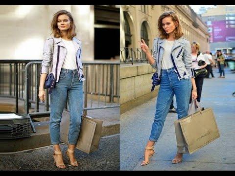 Женские джинсы с высокой талией. С чем можно носить