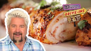 Guy Fieri Tries An Out-of-Bounds Prosciutto Bread (from #DDD)   Food Network