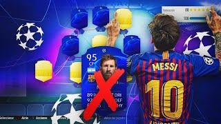 LIONEL MESSI CHAMPIONS LEAGUE DISCARD CHALLENGE!!   FIFA 19