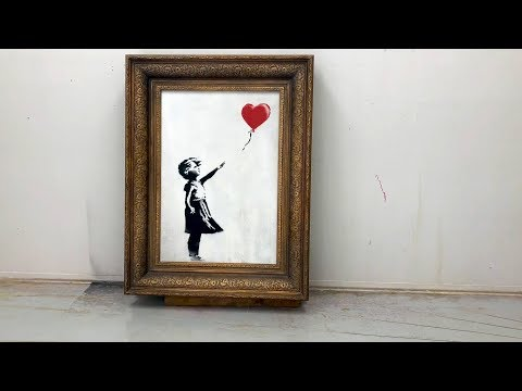 Shredding the Girl and Balloon - The Director's Cut (Official video posted by Banksy)