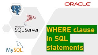 WHERE clause in SQL Server (DML, Filter table rows)