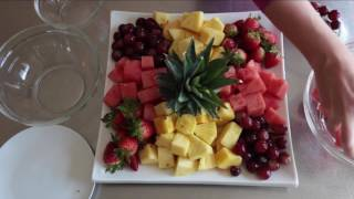 Super Impressive Throw-Together Fruit Platter For Easy Entertaining