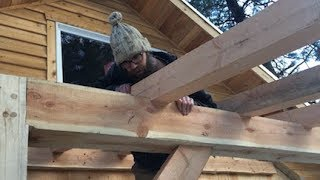 TIMBER FRAME JOINERY -- birdsmouth rafter DETAIL