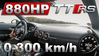 880HP Audi TTRS 8S | 0-300km/h Acceleration & Drag Race vs Lamborghini Huracan Evo & BMW M5 F90