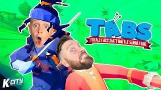 DAD Vs SON In TABS! (ALL MAPS!) K-CITY GAMING