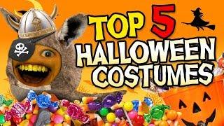 Annoying Orange - Top 5 Halloween Costumes! #Shocktober