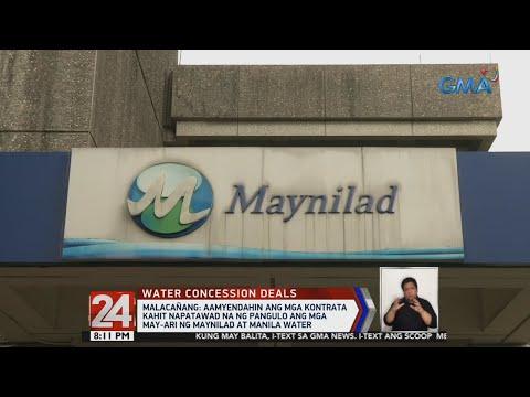 [GMA]  24 Oras: Malacañang: Aamyendahin ang mga kontrata kahit napatawad na ng Pangulo…