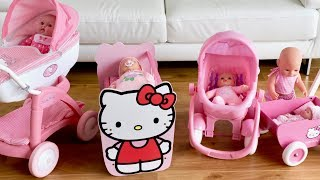 Baby Born Baby Annabell Pinky Nursery Center Hello Kitty Pram Nursery Toys, Pretend play with Dolls