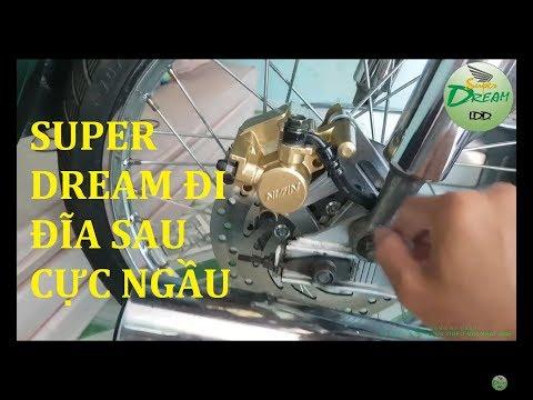 SuperDream LDD - Hướng dẫn cách lên thắng đĩa sau cho xe máy