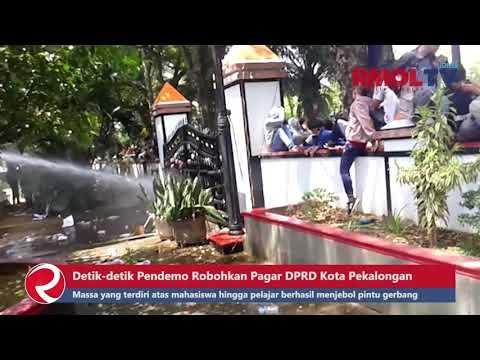 Detik detik Pendemo Robohkan Pagar DPRD Kota Pekalongan