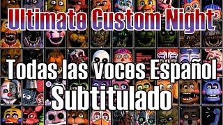 Todas las voces / diálogos subtitulados en español ultimate custom night fnaf 7
