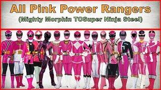 All Pink Power Rangers Power Rangers Mighty Morphin To Power Rangers Super Ninja Steel(1993-2018)