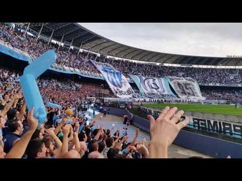 """Salida Racing Lanus 14/08/2016"" Barra: La Guardia Imperial • Club: Racing Club • País: Argentina"