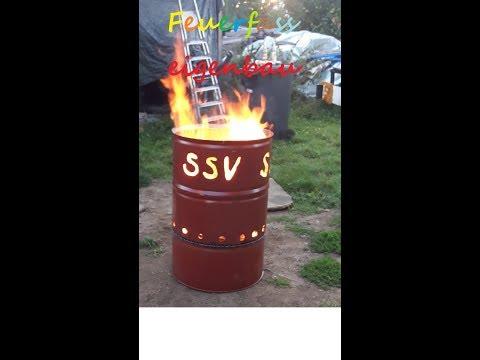 Ölfass zum Feuerfass