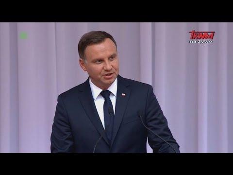 Podróż apostolska Ojca św. Franciszka do Polski: Przemówienie powitalne prezydenta Andrzeja Dudy
