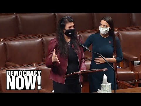 """We Can't Just """"Move On"""": AOC & Rashida Tlaib Demand Accountability for Deadly Capitol Attack"""