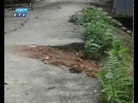ঠাঁকুরগাও পৌর এলাকায় রাস্তাঘাটের বেহাল দশা