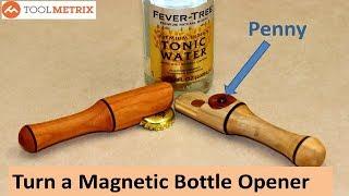 Woodturning: EASY DIY Bottle Opener Using a Penny!