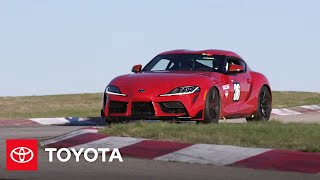 YouTube Video vy4msekwhP0 for Product Toyota GR Supra Sports Car (5th gen J29/DB) by Company Toyota Motor in Industry Cars